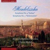 Mendelssohn; Symph. No. 4 & 5