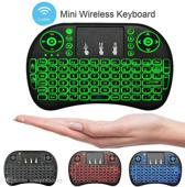 Mini i8 toetsenbord met backlight Led keyboard voor ANDROID,Windows,Linux,Raspberry Pi,Smart TV, Console,KODI, met 3 licht kleuren ,rood,groen,blauw .