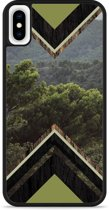 iPhone Xs Max Hardcase hoesje Forest wood