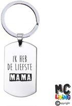 Sleutelhanger RVS - ik Heb De Liefste Mama