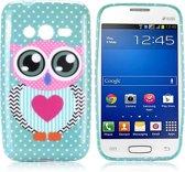 Cute Owl Silicone hoesje Samsung Galaxy Trend 2 SM-G313HN