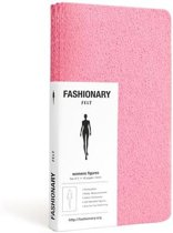 Fashionary Mini Felt Pink Womens Sketchbook A6 (Set of 3)