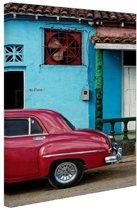 Kleurrijk Cuba Canvas 120x180 cm - Foto print op Canvas schilderij (Wanddecoratie woonkamer / slaapkamer) XXL / Groot formaat!