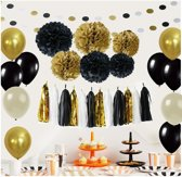 Feest versiering - Verjaardag Versiering  - Ballonnen - Pompons - Goud Decoratie  - Tassel Slinger - Happy Birthday  - Verjaardagsfeest - Feestartikelen - Feest Decoratie