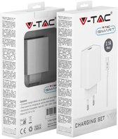 V-tac VT-5372 Oplader Samsung met USB C kabel - 2,1 Ampere - Wit