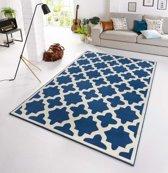 Design vloerkleed Noble - blauw/crème 160x230 cm