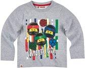 Lego-Ninjago-T-shirt-met-lange-mouw-grijs - Maat 104