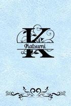 Split Letter Personalized Name Journal - Katsumi