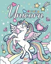 Unicorn - 2in1: Coloring Book For Children 4 to 12 Years - 2 books in 1