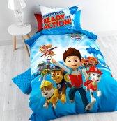 Nickelodeon Paw Patrol - Kinderdekbedovertrek -  Eenpersoons - 140x200 + 1 kussensloop 60x70 - Blauw