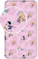 Disney Princess Pink - Hoeslaken - Eenpersoons - 90 x 200 cm - Multi