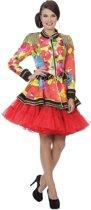 Circus Kostuum   Vrolijke Ballonnen Jas Circus Vrouw   Maat 46   Carnaval kostuum   Verkleedkleding