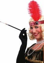 Partychimp - Haarband met veer - Charleston - Rood