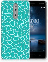 Nokia 8 TPU Hoesje Design Cracks Blue