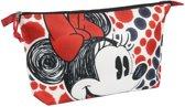 Disney Minnie Mouse toilettas/make-uptas 32,5 cm voor meisjes - Reis toilettassen/make-up etui - Handbagage