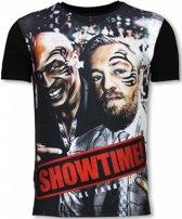 Local Fanatic Showtime - Digital Rhinestone T-shirt - Zwart - Maten: S