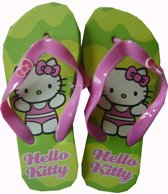 Groene/roze teenslippers van Hello Kitty maat 31/32