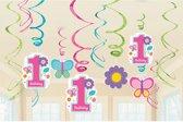 Amscan Slingers 1 Jaar Sweet Birthday Meisjes 12 Stuks
