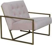 Light and living Light&Living fauteuil GENEVE velvet roze 71 x 81 x 70