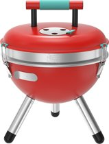 Jamie Oliver Park Houtkoolbarbecue Red Pepper inclusief gratis 4 delige steak set