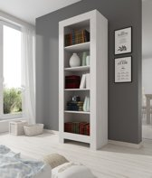 Meubella - Boekenkast Ruby 2 - Wit eiken - 70 cm