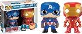 Funko: Pop Civil War - Captain America/Iron Man 2 Pack