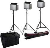 Bresser Studio Continu Lamp SH-1200 LED Set (3x LED en 3x Statief)