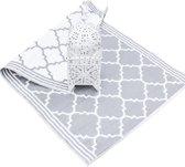 Plastic buitenkleed Elegance grijs wit