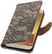 Samsung Galaxy J5 (2017) J530F Zwart | Lace bookstyle / book case/ wallet case Hoes  | WN™