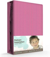 Gabriel kinder hoeslaken - Fuchsia - Ledikant (60x120 cm)