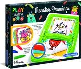Clementoni - Play Creative - Grappige Wezens Tekenen