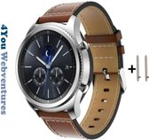 Bruin kunstlederen bandje voor Samsung, LG, Seiko, Asus, Pebble, Huawei, Cookoo, Vostok en Vector - magneetsluiting – Brown eco-leather smartwatch strap - Gear S3 - Zenwatch - Kunstleer - Kunstleder