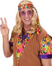 Blonde hippiepruik voor volwassenen - Verkleedpruik
