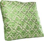 Kare Kussen Groen Ornament Groot