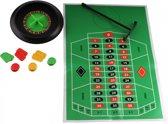 Lg-imports Roulette-set 15 Cm Groen/zwart 29-delig
