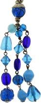 Blauwe kralen ketting met hanger