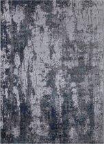 Design Laagpolig Vloerkleed Mumbai 160 x 230 cm - Grijs / Blauw