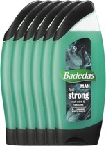 Badedas Feel Strong Douchegel - 6 x 250  ml - Voordeelverpakking