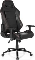 hjh office Silverstone II PU -Bureaustoel -  Gaming - Racing - Zwart
