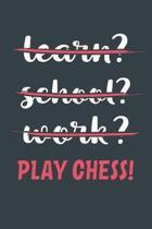 Learn? School? Work? Play Chess!