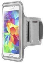 Samsung Galaxy S4 sports armband case Zilver/ Silver