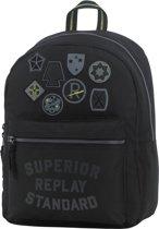 Replay Rugzak - Black Solid - Zwart