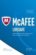 McAfee Livesafe - Nederlands / 5 Apparaten 1 Jaar / Windows / Mac / Android / IOS