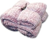 Unique Living Knut - Fleece - Plaid - 150x200 cm - Mauve