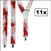 11x Bretel wit met bloed