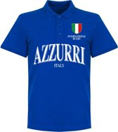Italie Rugby Polo - Blauw - S