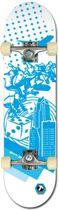 Black Dragon Skateboard - ABEC 5 - Wit/Blauw