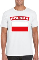 Polen t-shirt met Poolse vlag wit heren