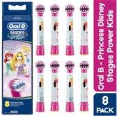Oral B Stages Power kids - Disney Princess opzetborstels  - 8 opzetborstels - Voordeelverpakking - Opzetborstels voor kinderen