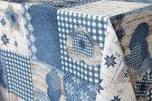 Strijkvrij Tafelkleed Vocht en Vuil werend Harten Blauw 200 x 140cm